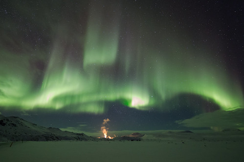 Icelandic aurora Myvatn