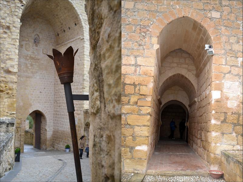 Puerta de entrada a la fortaleza y a la torre del homenaje