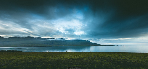 ocean road trip travel sunset sea summer sky reflection nature clouds landscape iceland cloudy panoramic east fjords ísland icelandic berufjörður