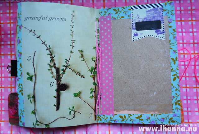 Mini Art Journal Spring Feeling - created by iHanna