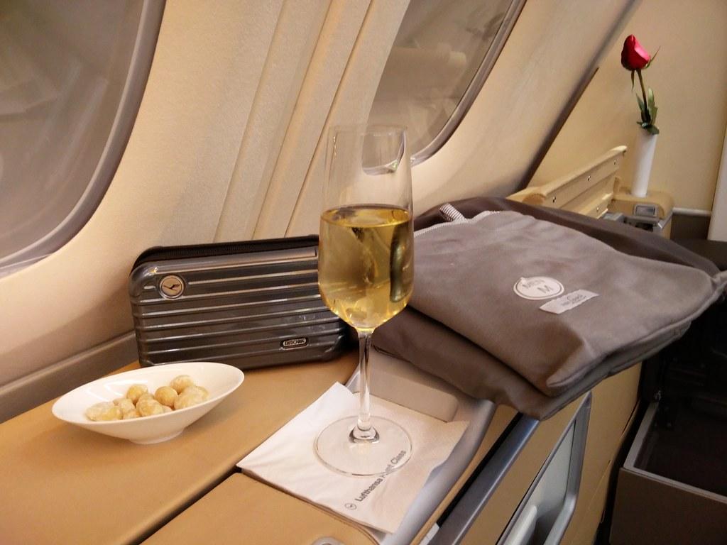 Onboard Lufthansa First Class