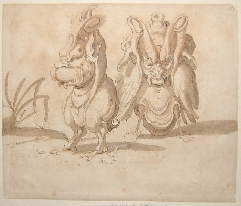 Arent van Bolten - Monster 154, from collection of 425 drawings, 1588-1633