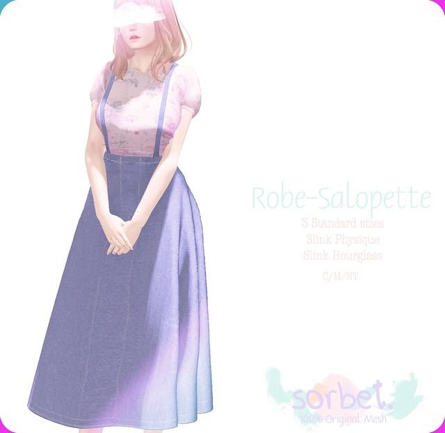 Sorbet. Robe-salopette