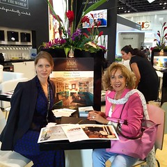 Flemings represents @arabian_travel_market 2016 with @smallluxuryhotels #travel #luxuryhotel #slh #arabia #travelmarket #flemingsmayfair #ATM16