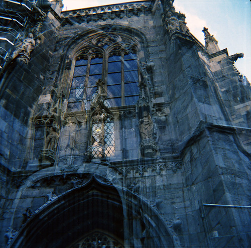Aachener Dom: double exposure