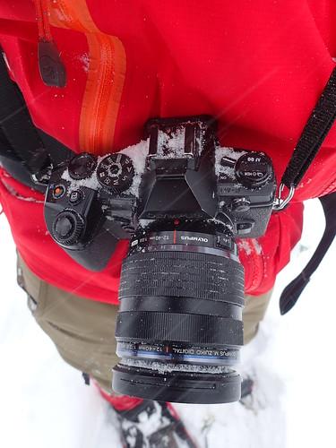 Snowy Olympus OM-D E-M1 camera