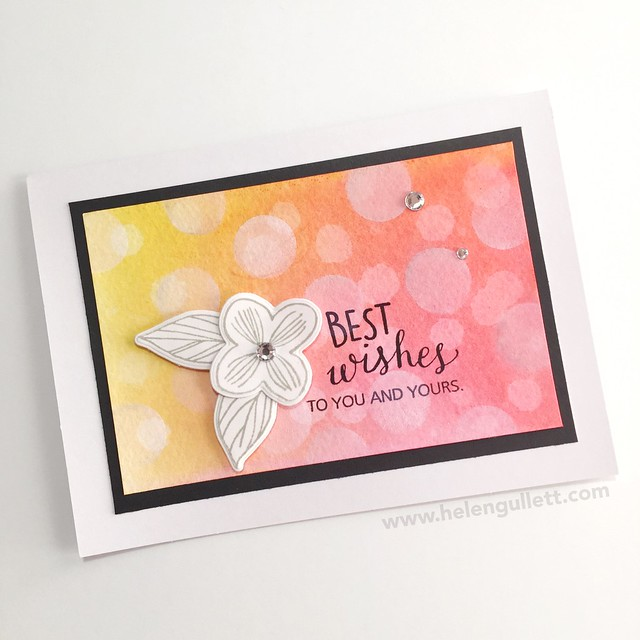 January CTMH Technique Blog Hop - Bokeh Stamping: Best Wishes Card --> http://helengullett.com/?p=8308 #ctmh #ctmhthincuts #ctmhnewyear #closetomyheart #ctmhspringwishes #handmadecard #cardmaking #watercoloring #bokehtechnique #diecutting #wrmk #wermemorykeepers #evolutionadvanced