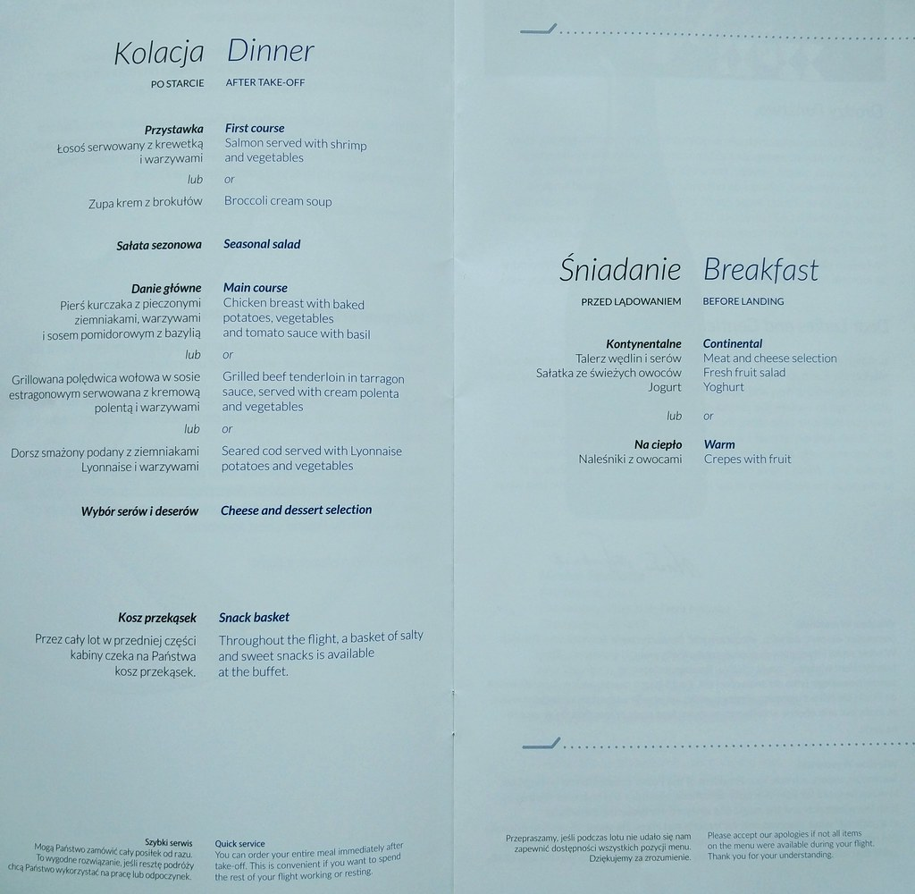 Food and meal menu