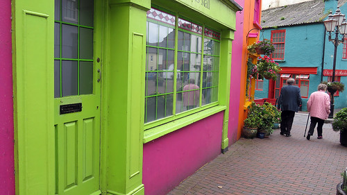 Bright Green & Pink Shop in Kinsale, Ireland