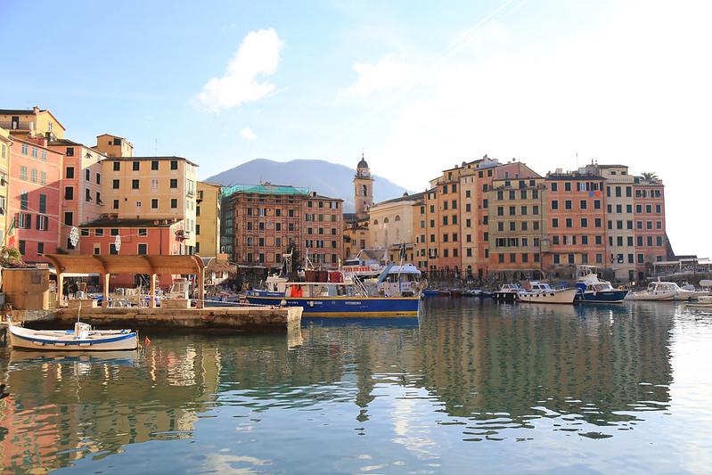 Camogli port Italie