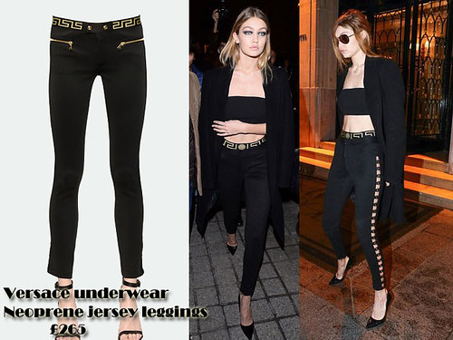 Versace underwear Neoprene jersey leggings with crop top & long oversized blazer