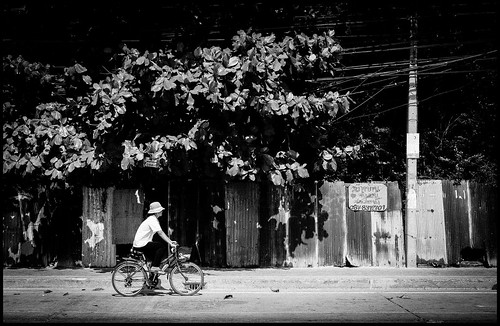 Thai riding bike