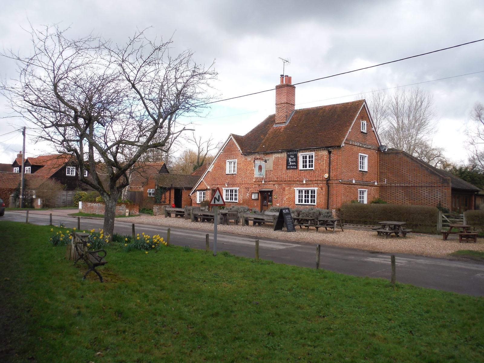 The Bull Inn, Stanford Dingley SWC Walk 117 Aldermaston to Woolhampton (via Stanford Dingley)