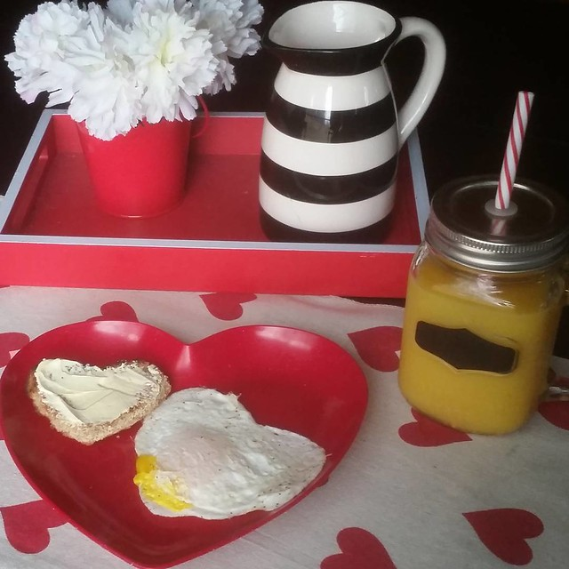 A Valentine's Day inspired breakfast for Lily today! ❤