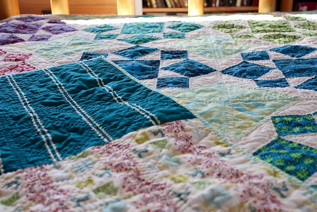 Anna Maria Horner On A Whim Quilt, Hand Quilted
