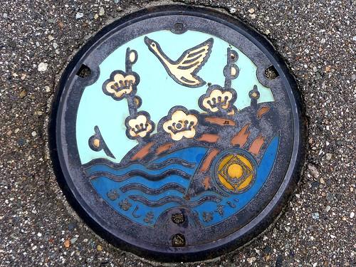 Oshima Toyama, manhole cover 3 (富山県大島町のマンホール3)