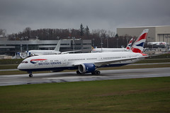 BA's newest 787-9 at Paine Field