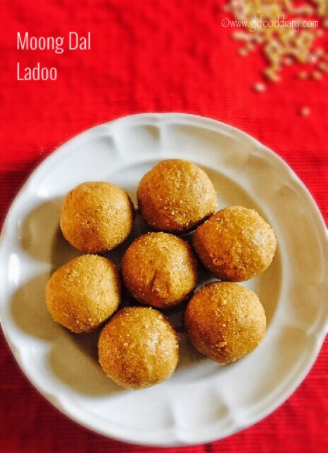 Moong dal Ladoo Recipe for Toddlers and Kids