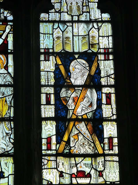 St. Andrew's stained glass window, St. Andrew's, Mottisfont