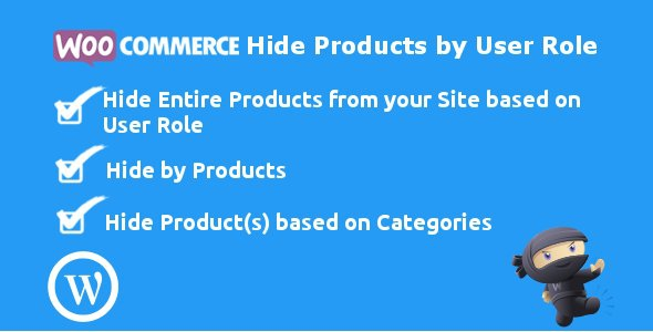 WooCommerce Hide Products by User Role v3.4