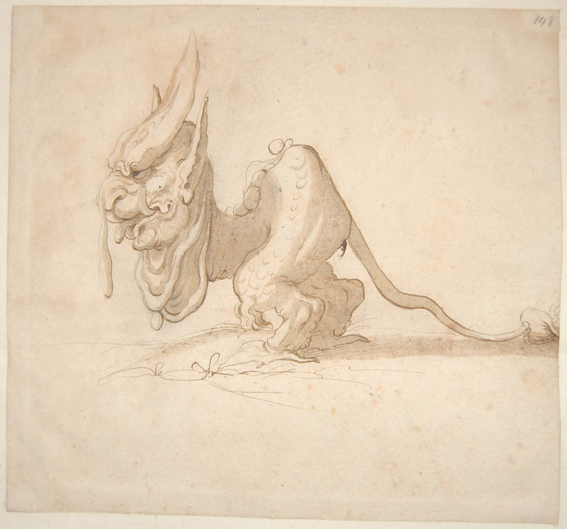 Arent van Bolten - Monster 148, from collection of 425 drawings, 1588-1633