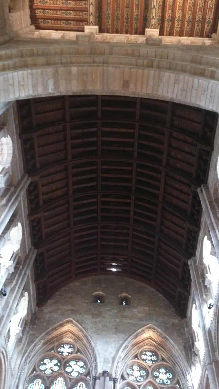 Vaulted Ceiling, Romsey Abbey SWC Walk 58 Mottisfont and Dunbridge to Romsey