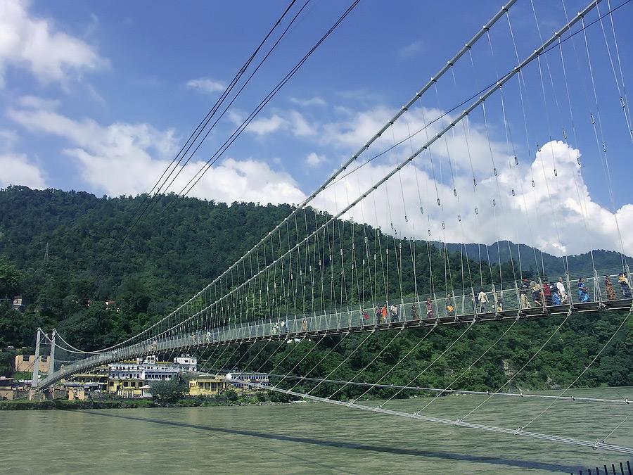Ришикеш. Мост в Лакшман Джуле