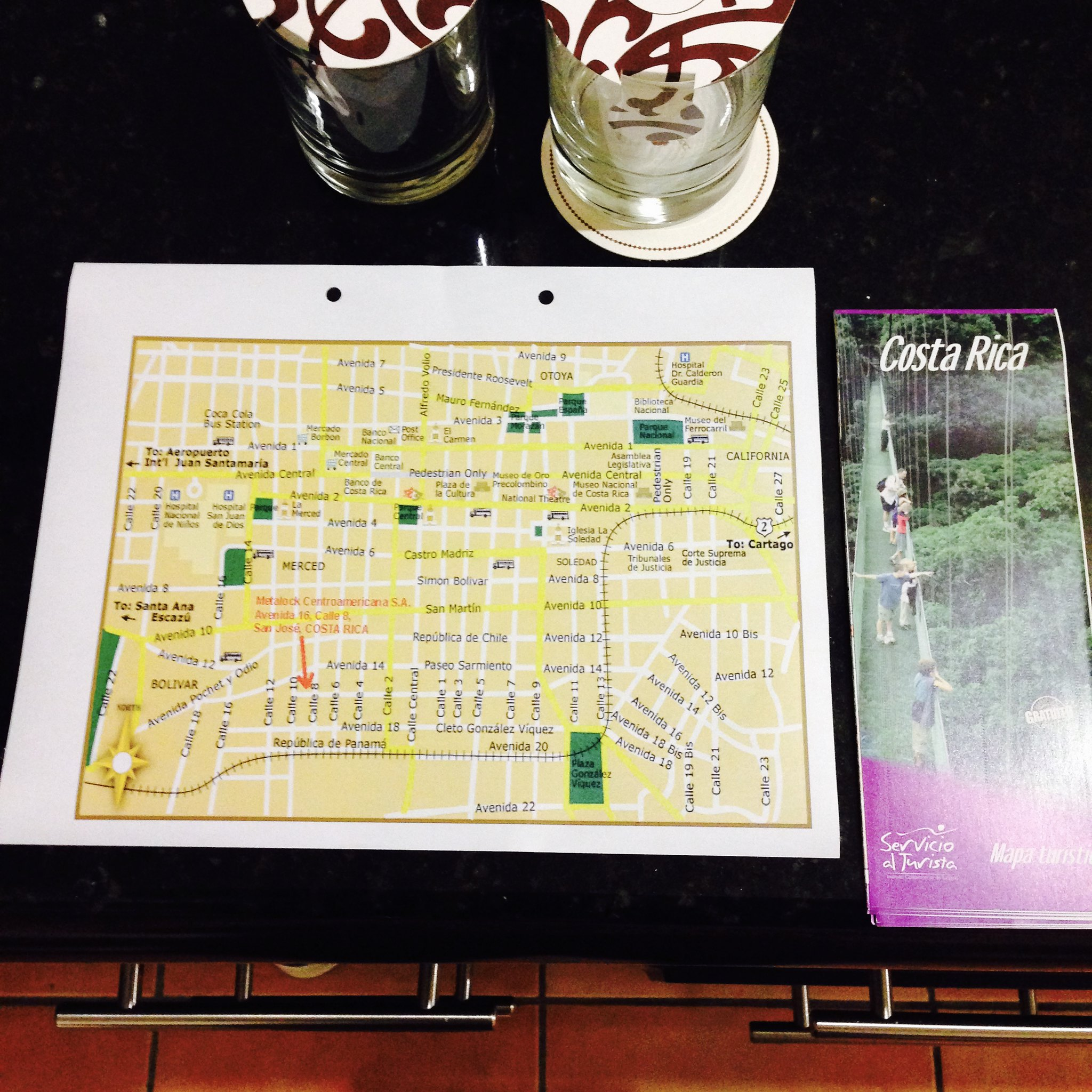 Welcome package at DoubleTree Hilton Cariari