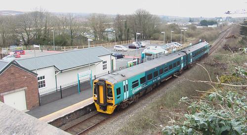 Class 158 DMU at Fishguard & Goodwick station