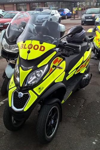 Manchester Bloodbikes Piaggio Trike
