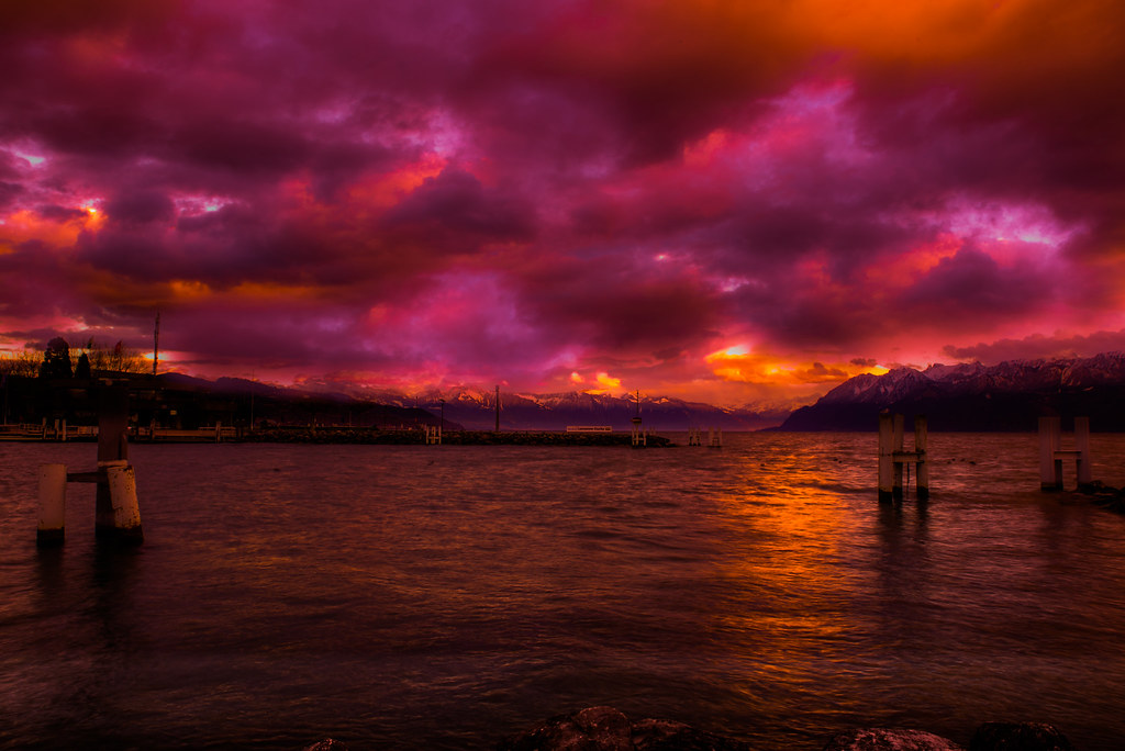 vivid sunset... #switzerland