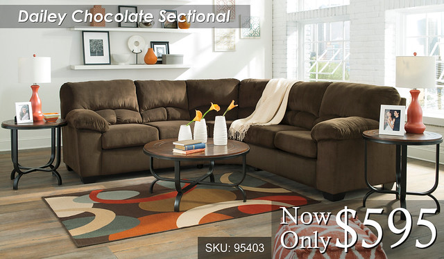 Dailey Chocolate Sectional