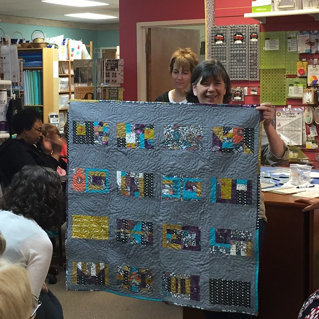 Lori's Patchwork City QAL quilt