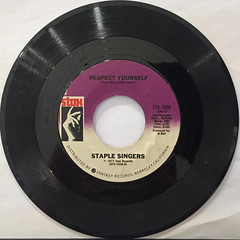STAPLE SINGERS:RESPECT YOURSELF(RECORD SIDE-A)