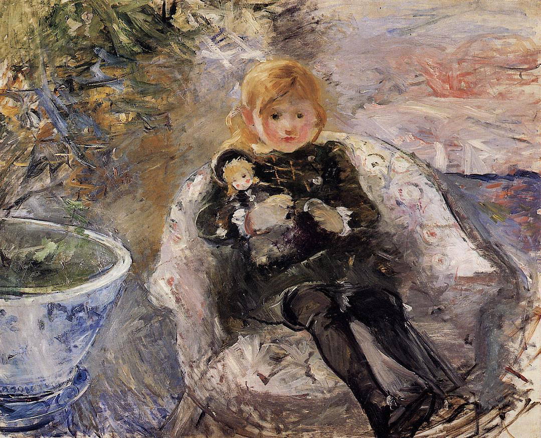 Young Girl with Doll by Berthe Morisot, 1884