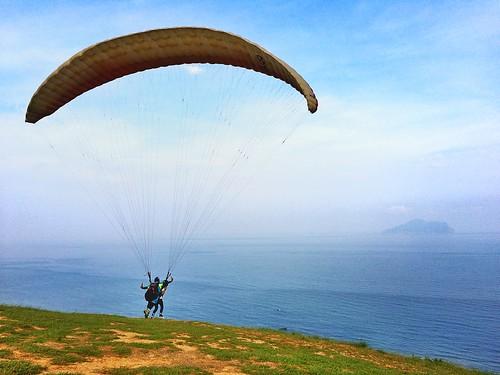 宜蘭外澳飛行傘