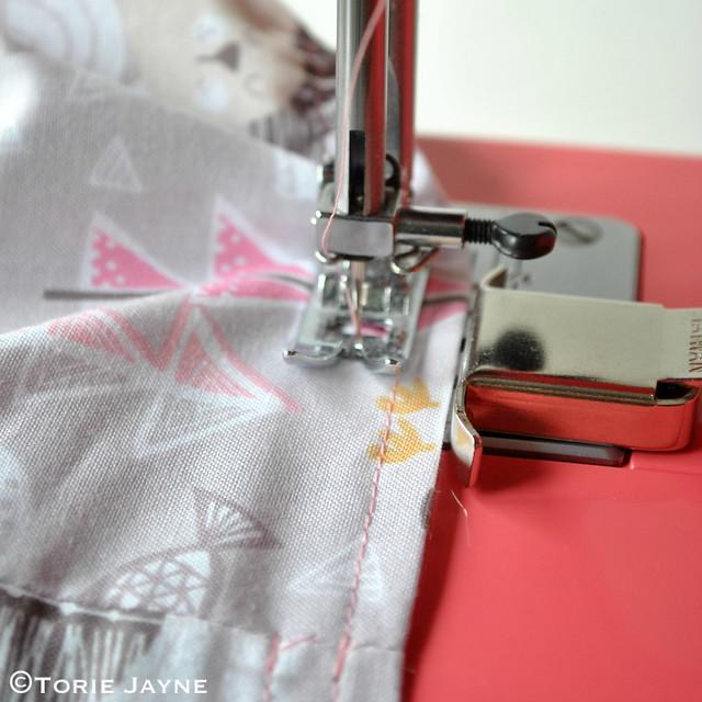 Toddler Girls Shirred Waist Skirt Sewing Tutorial 12