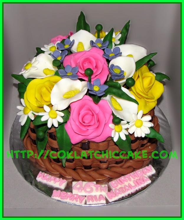 Cake Keranjang Bunga