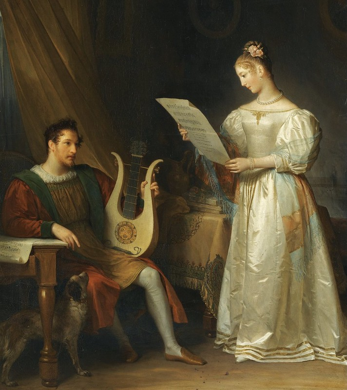 Marguerite Gérard - Interior with a Man holding a Lyre and a Woman with a Music Score