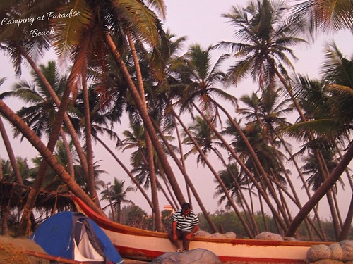 Camping at Paradise Beach, Pondicherry