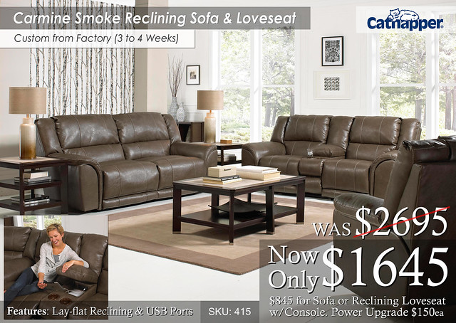 Carmine Smoke Living Set