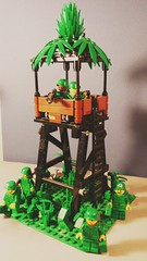 Watch tower in the jungle.