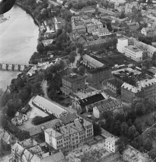 Flyfoto over Kalvskinnet (1945)