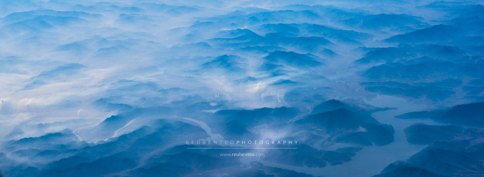 Aerial view of North Korean Mountains