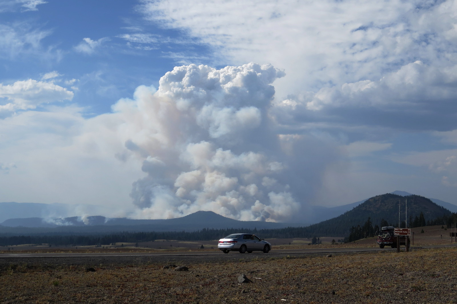 Fire, Umpqua Forest, Oregon