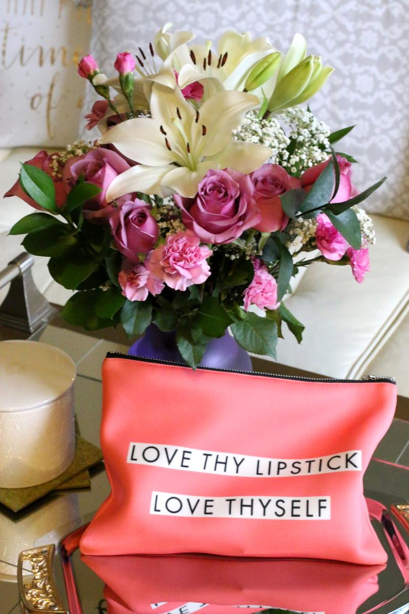mimi beauty bag, love thy lipstick, love thyself