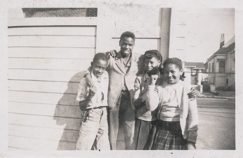 Four African American kids
