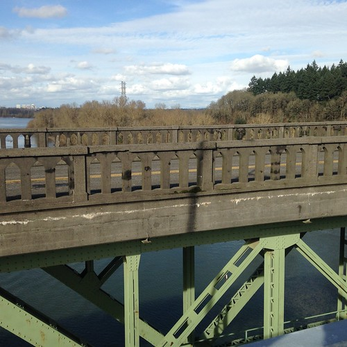 The old Sellwood bridge from the new Sellwood bridge