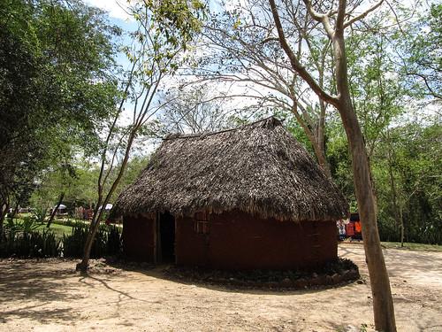 Chichen Itza: une hutte traditionnelle maya