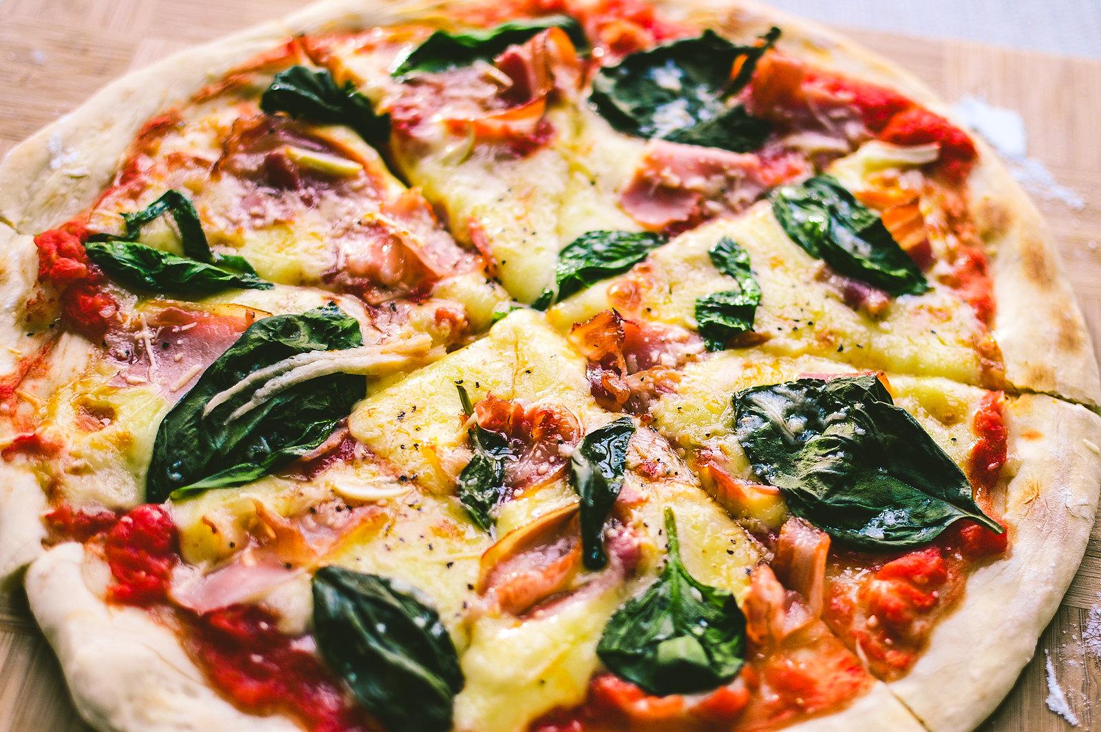 Thin-Crust Pancetta Pizza